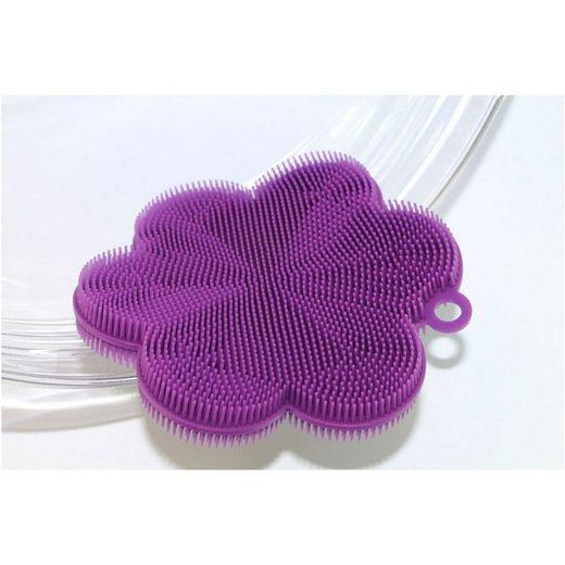 Kochblume SWISCH Silikonschwamm und Fusselbürste lila