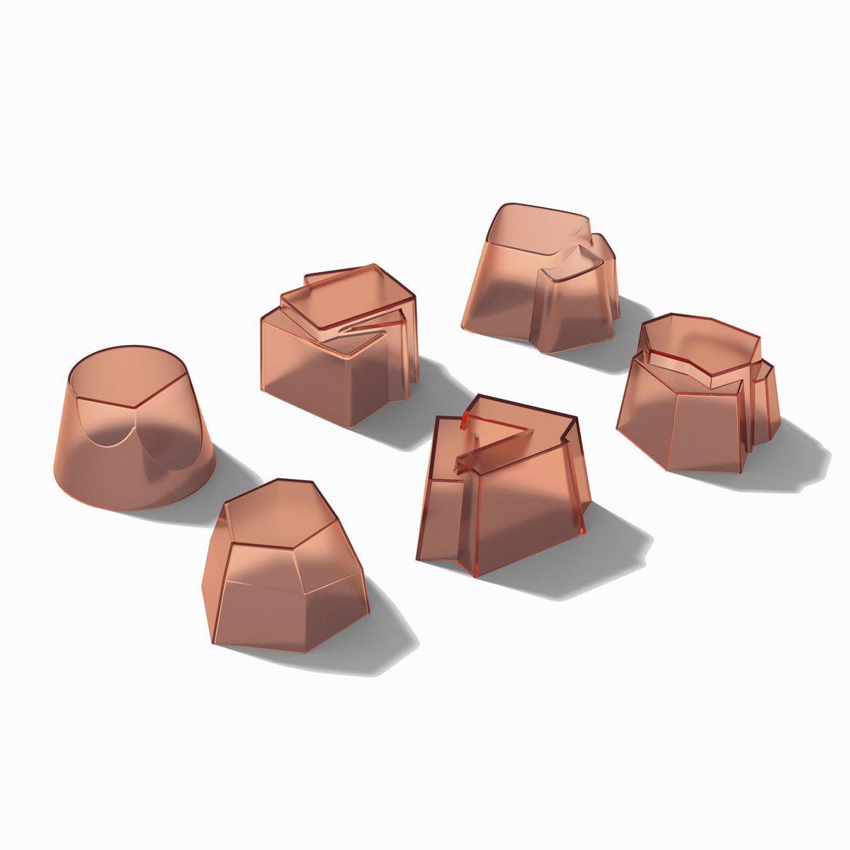 Alessi Alessi Timbaleformen pfirsich Silikon - 6er Set