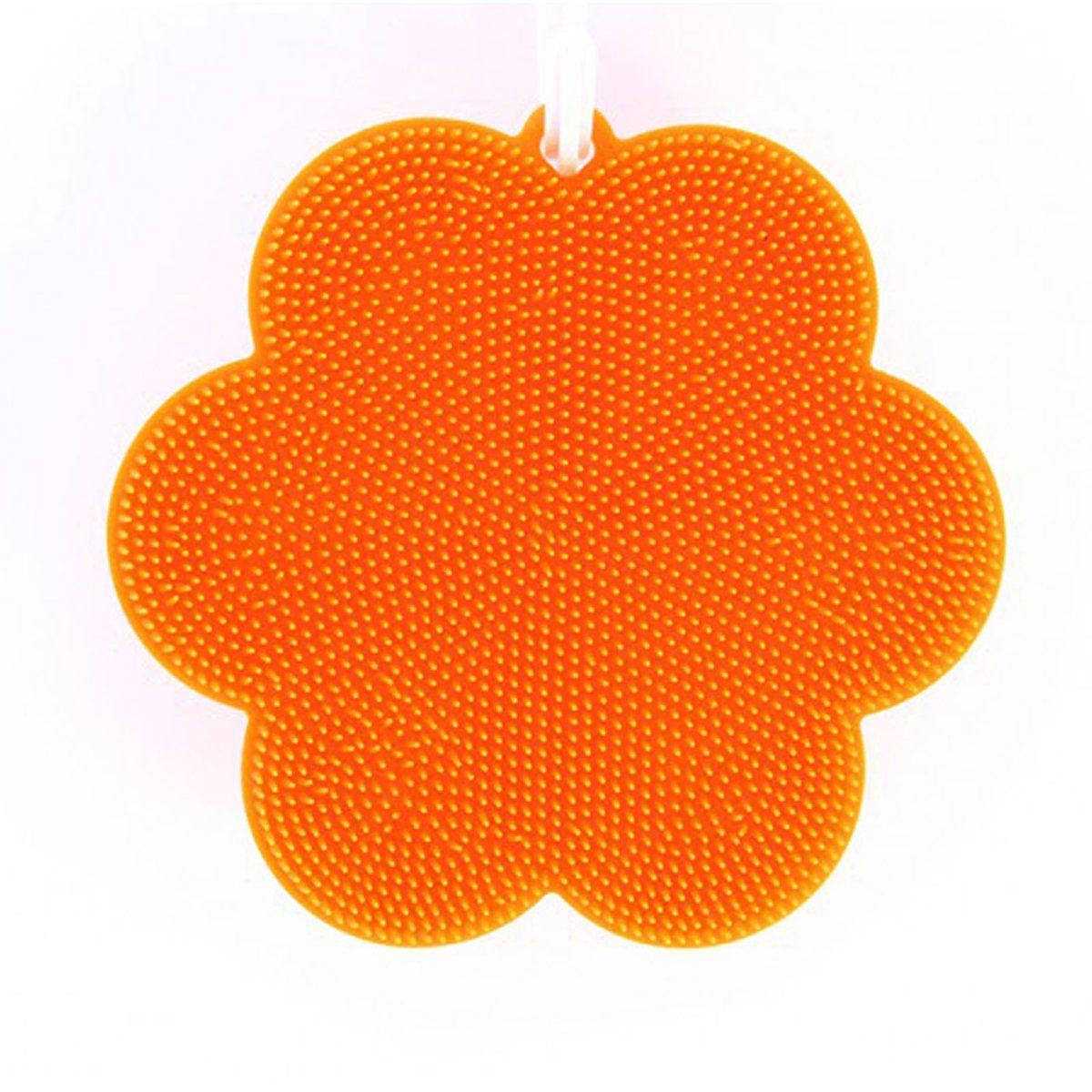 Kochblume SWISCH Silikonschwamm und Fusselbürste, orange