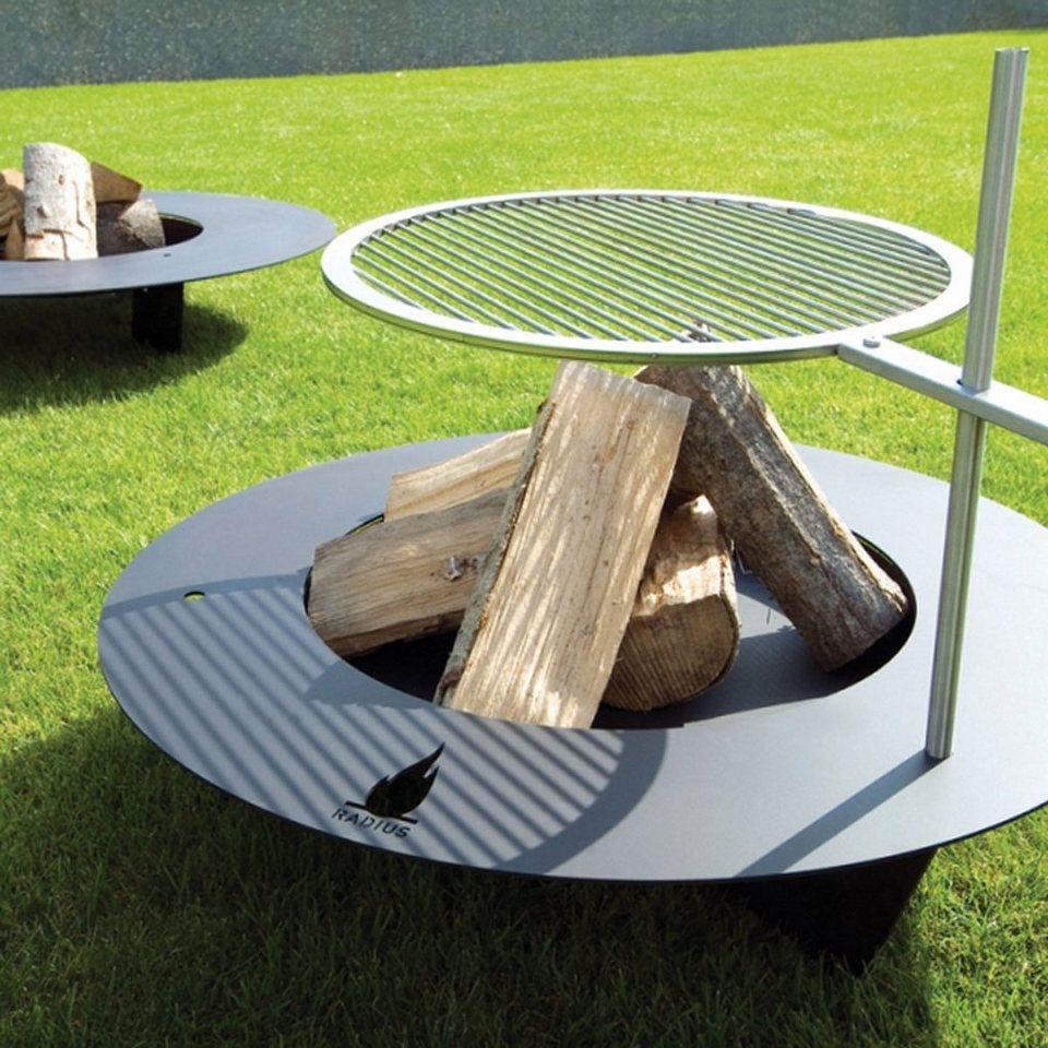 radius radius feuerstelle grill fireplate schwarz 75 cm online kaufen otto. Black Bedroom Furniture Sets. Home Design Ideas