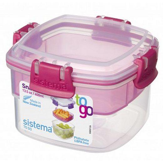 sistema sistema Aufbewahrungsbox Snack To Go 2er Set pink, lila