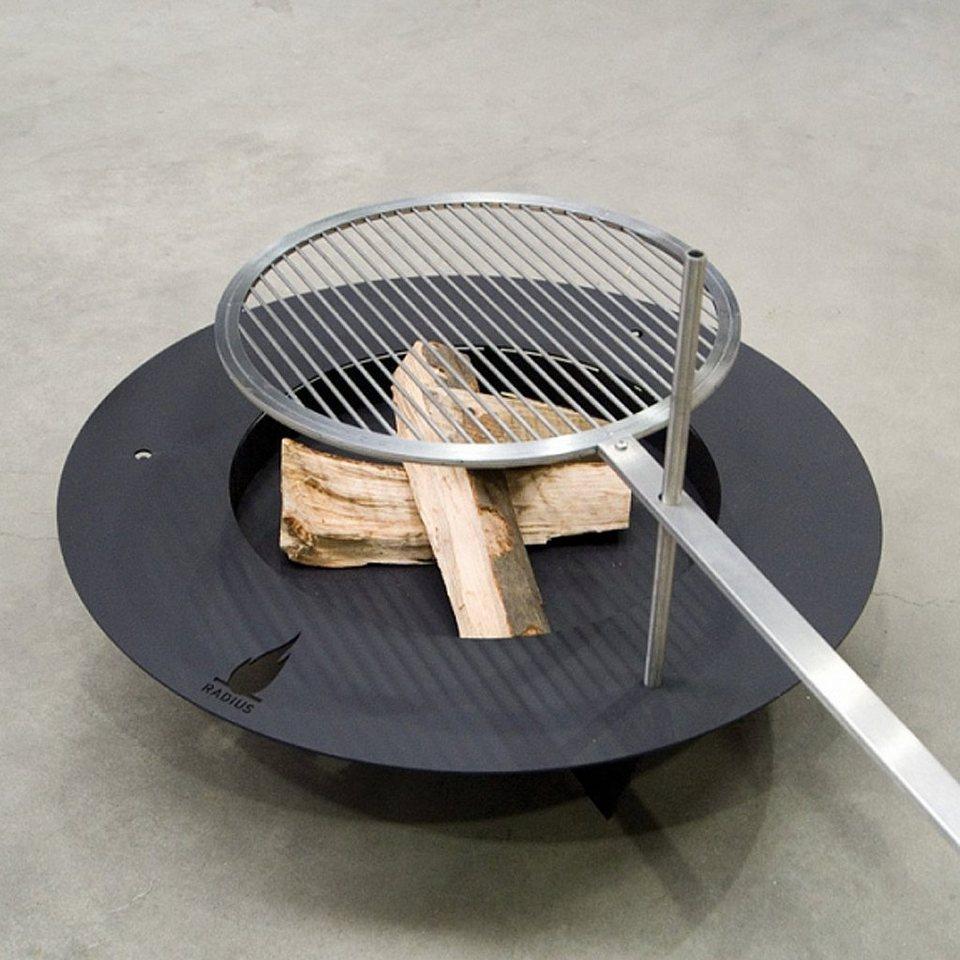 radius radius feuerstelle - grill fireplate schwarz 100cm online