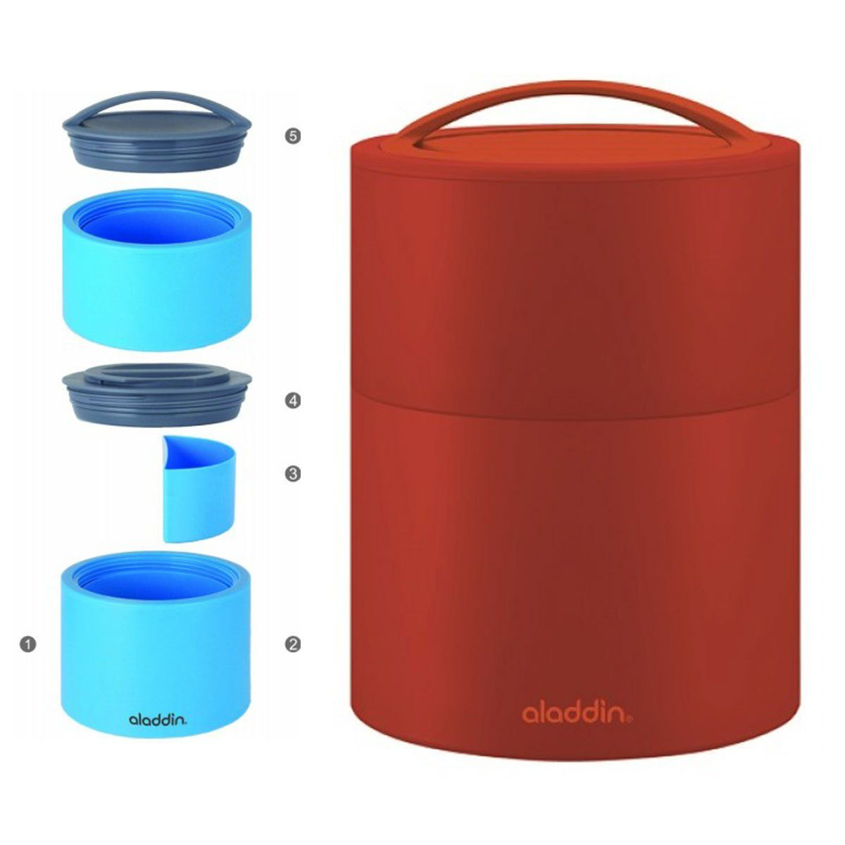 aladdin Aladdin Bento Lunchbox 0.95l, tomato