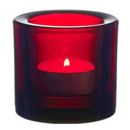 IITTALA Iittala Teelichthalter KIVI Cranberry 6 cm