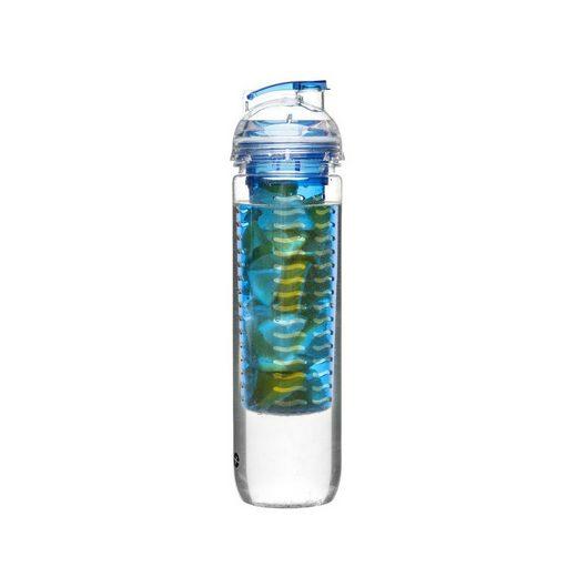 Sagaform Flasche mit Früchteeinsatz Fresh to go, blau