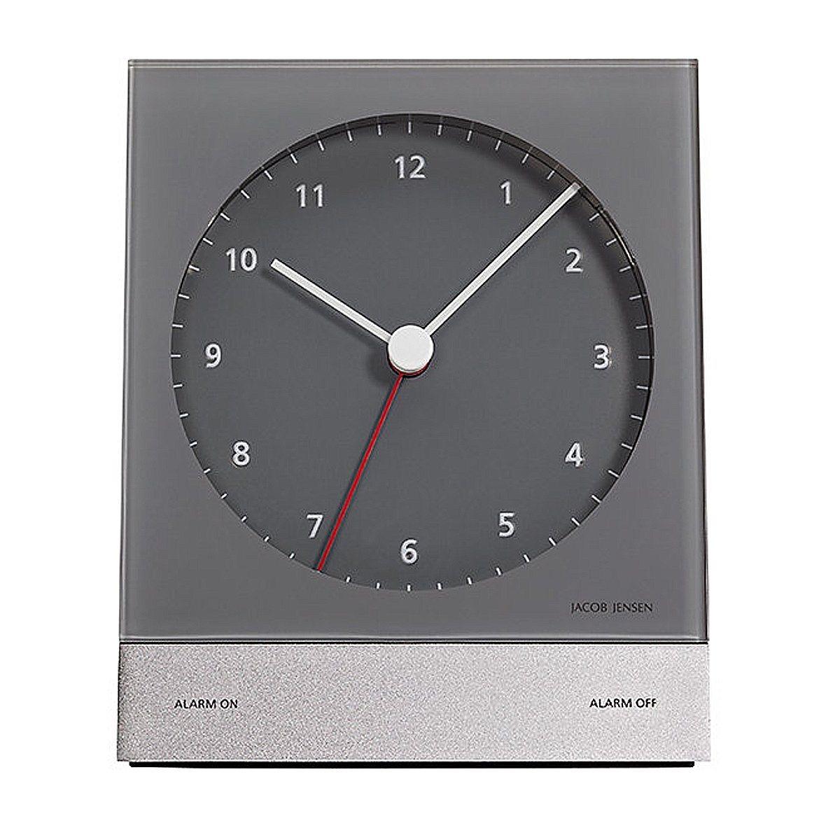 Jacob Jensen Jacob Jensen analog Quarzwecker, grau | Dekoration > Uhren > Wecker | Grau - Rot | Abs | Jacob Jensen
