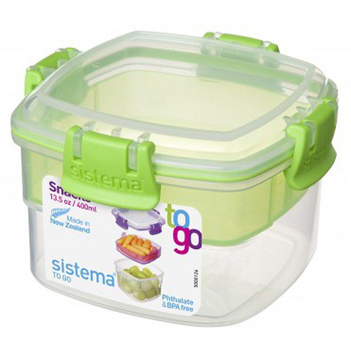 sistema sistema Aufbewahrungsbox Snack To Go 2er Set blau, grün