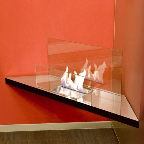 Radius Radius Kamin CORNER FLAME hochglanz Glas, transparent
