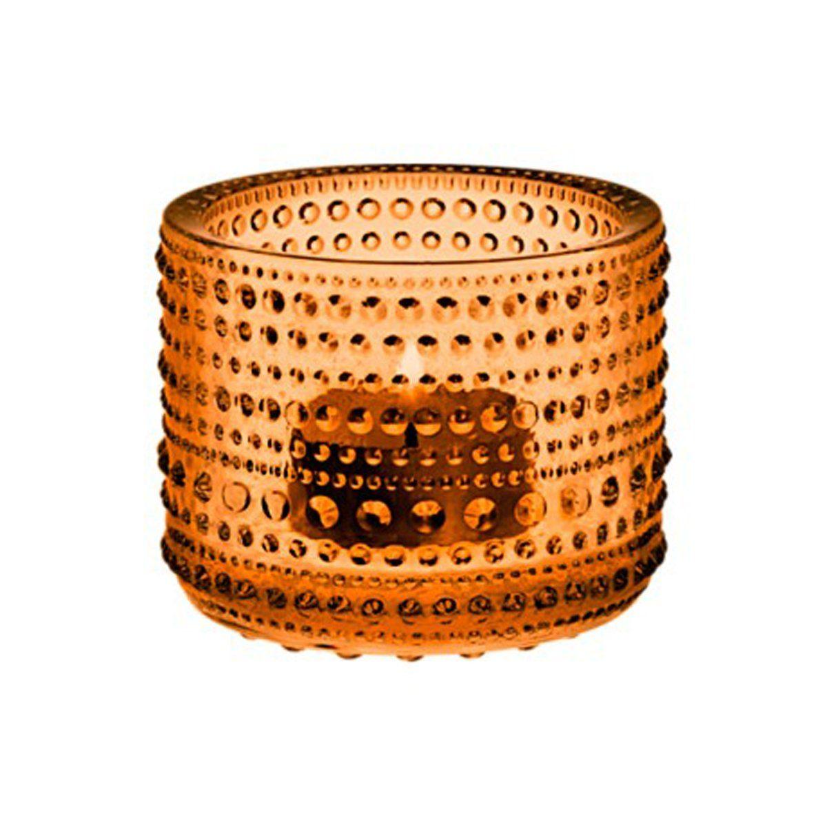 IITTALA Iittala Teelichthalter KASTEHELMI seville orange 6.4 cm