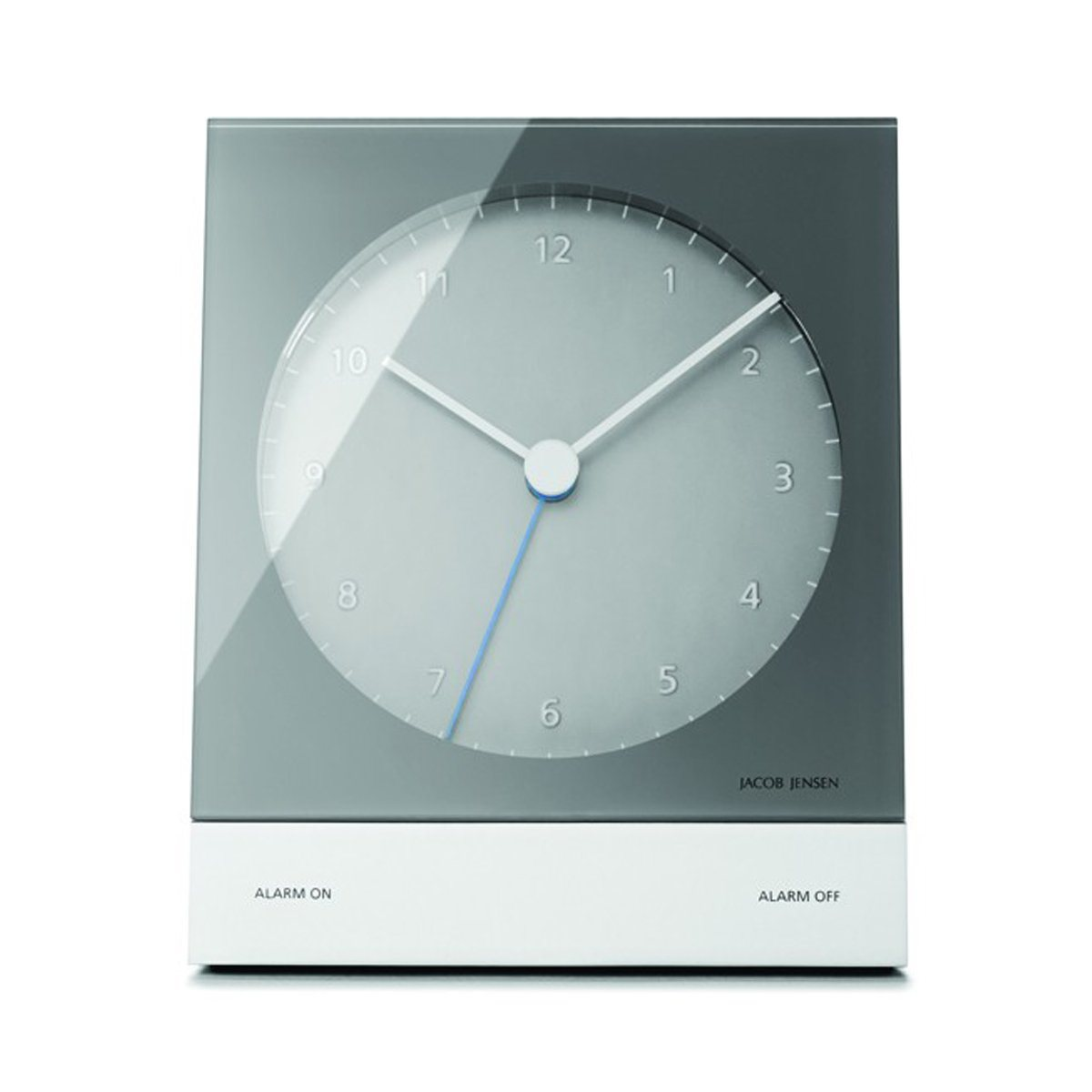 Jacob Jensen Jacob Jensen analog Funkwecker, grau | Dekoration > Uhren > Wecker | Grau - Blau | Abs | Jacob Jensen