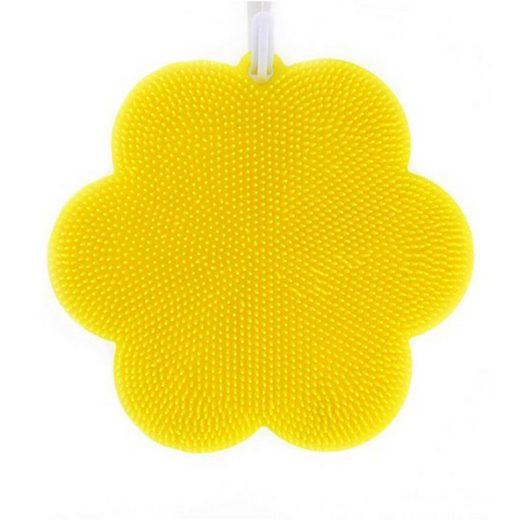 Kochblume SWISCH Silikonschwamm & Fusselbürste - Blume gelb