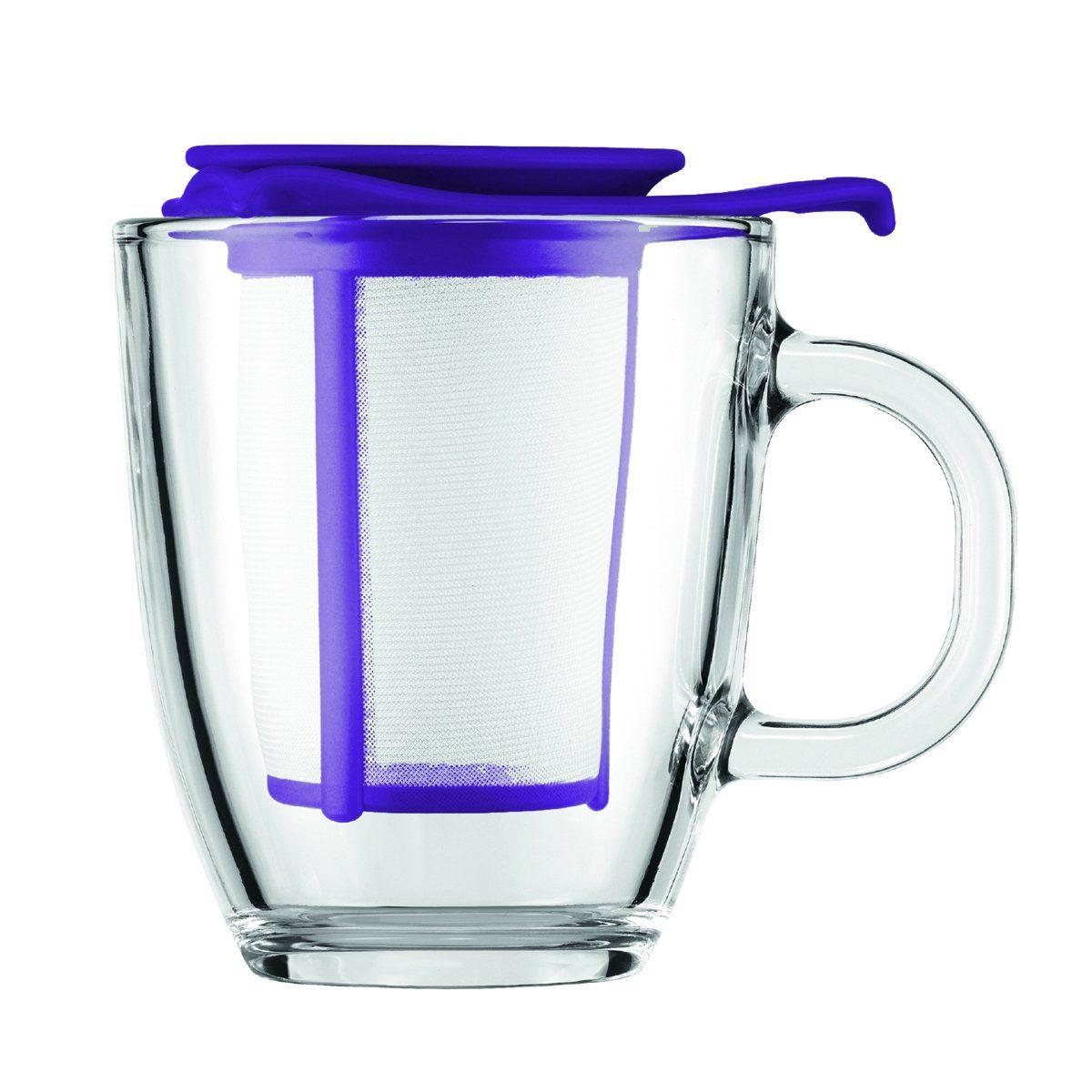Bodum Bodum YO-YO SET Glastasse mit Kunststofffilter, 0.35 l lila