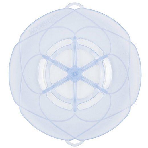 Kochblume Kochblume Überkochschutz eisblau-transparent 33 cm