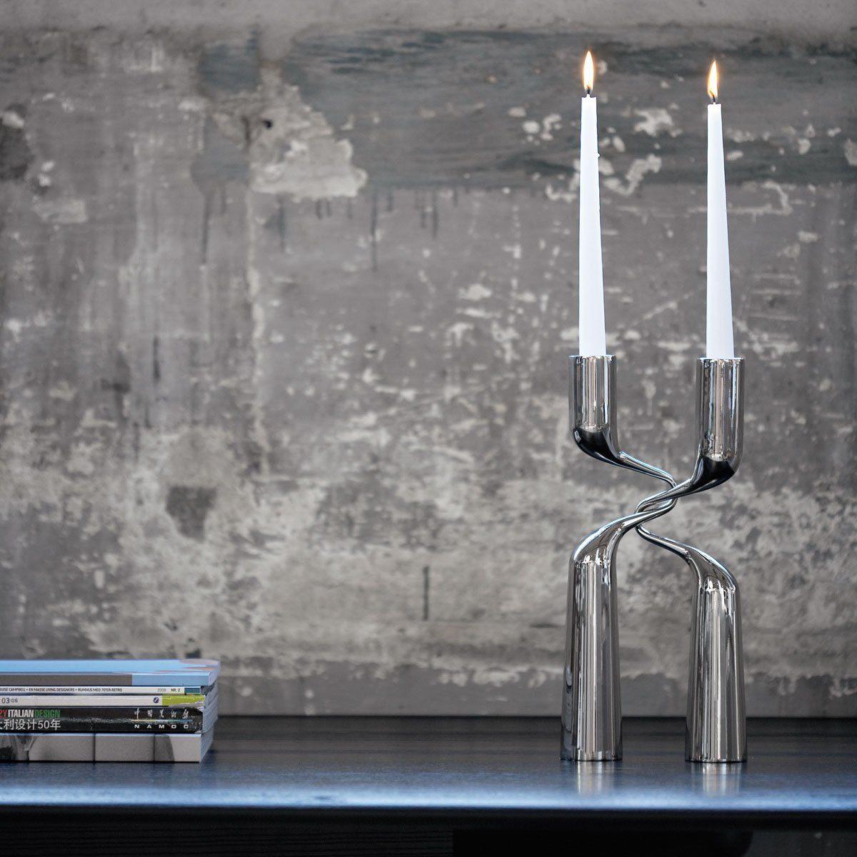 MENU Menu Kerzenständer DOUBLE 32cm Edelstahl - 2er Set