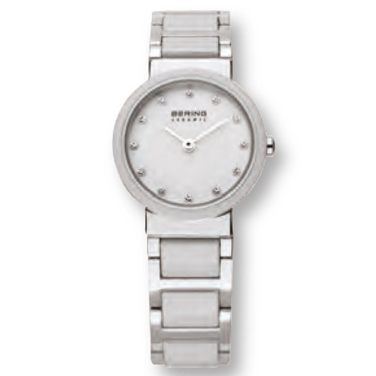 Bering Bering 10725-754 Damenuhr CERAMIC Weiß, Silber