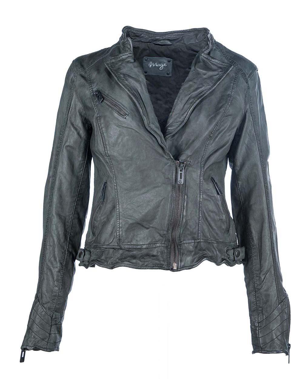 MAZE Lederjacke mit auffälligem Rückenmuster »Nastia«