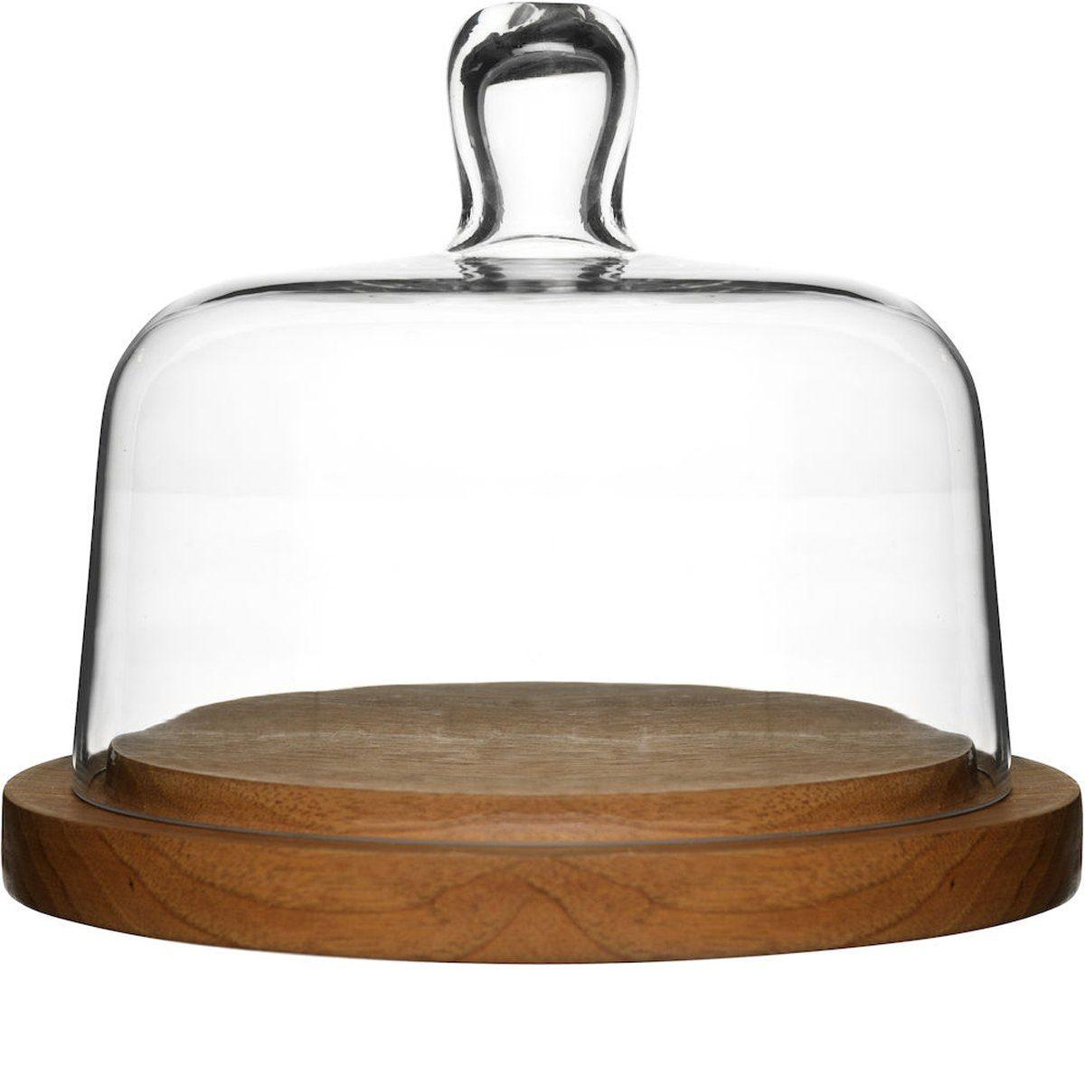 Sagaform Käseglocke Oval Oak, rund