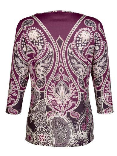 Dress In Shirt mit platziertem Druckdessin