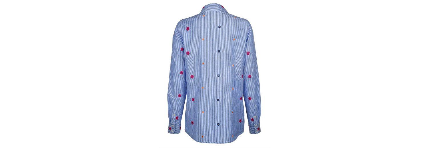 Auslasszwischenraum Store Verkauf Rabatt Dress In Bluse mit Streifen und Stickerei xdJoH