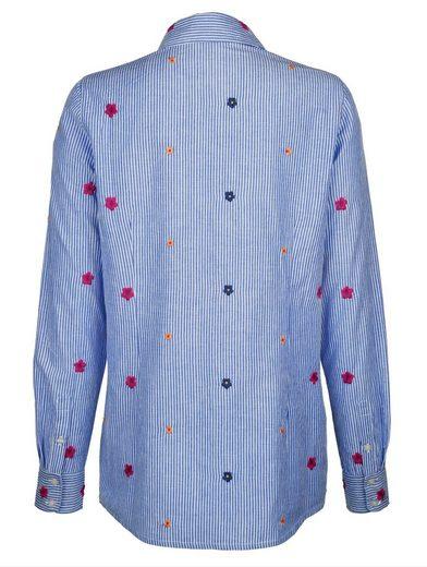 Dress In Bluse mit Streifen und Stickerei