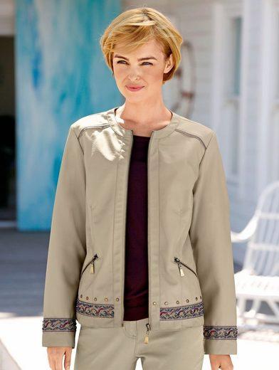 Dress In Lederimitatjacke mit aufwendiger Stickerei