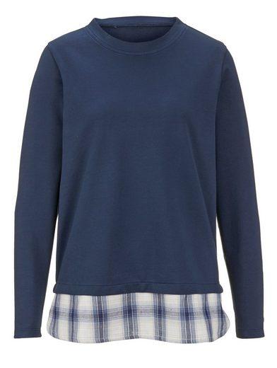 Dress In Sweatshirt mit Bluseneinsatz