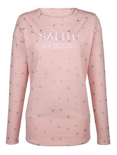 Dress In Sweatshirt mit Glitzerdruck