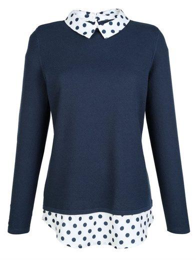 Dress In Pullover mit dekorativem Blusenkragen