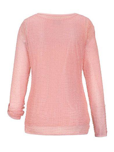 Dress In Shirt mit druchbrochenem Gewebe und Paillettenn