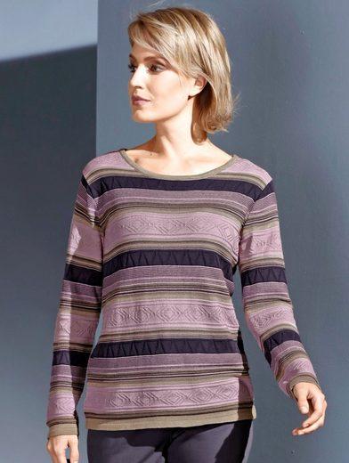 Dress In Pullover in Strukturstrick