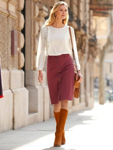 Dress In Skirt With Button Tape