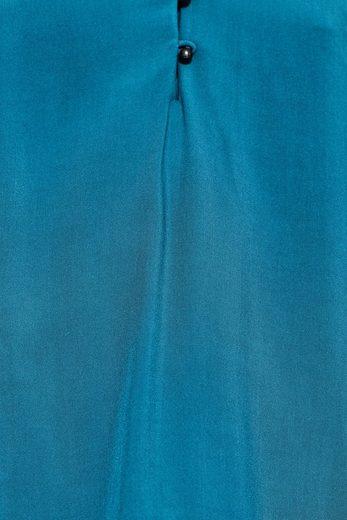 EDC BY ESPRIT Fließende Bluse mit Kugelknöpfen