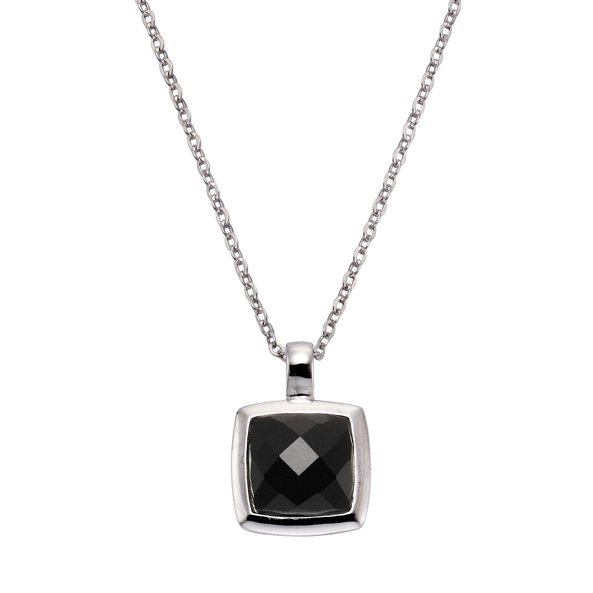 Zeeme Anhänger mit Kette »925/- Sterling Silber Achat schwarz«