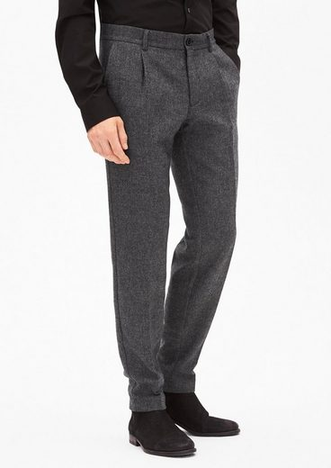 s.Oliver BLACK LABEL Slim: Hose aus Tweed