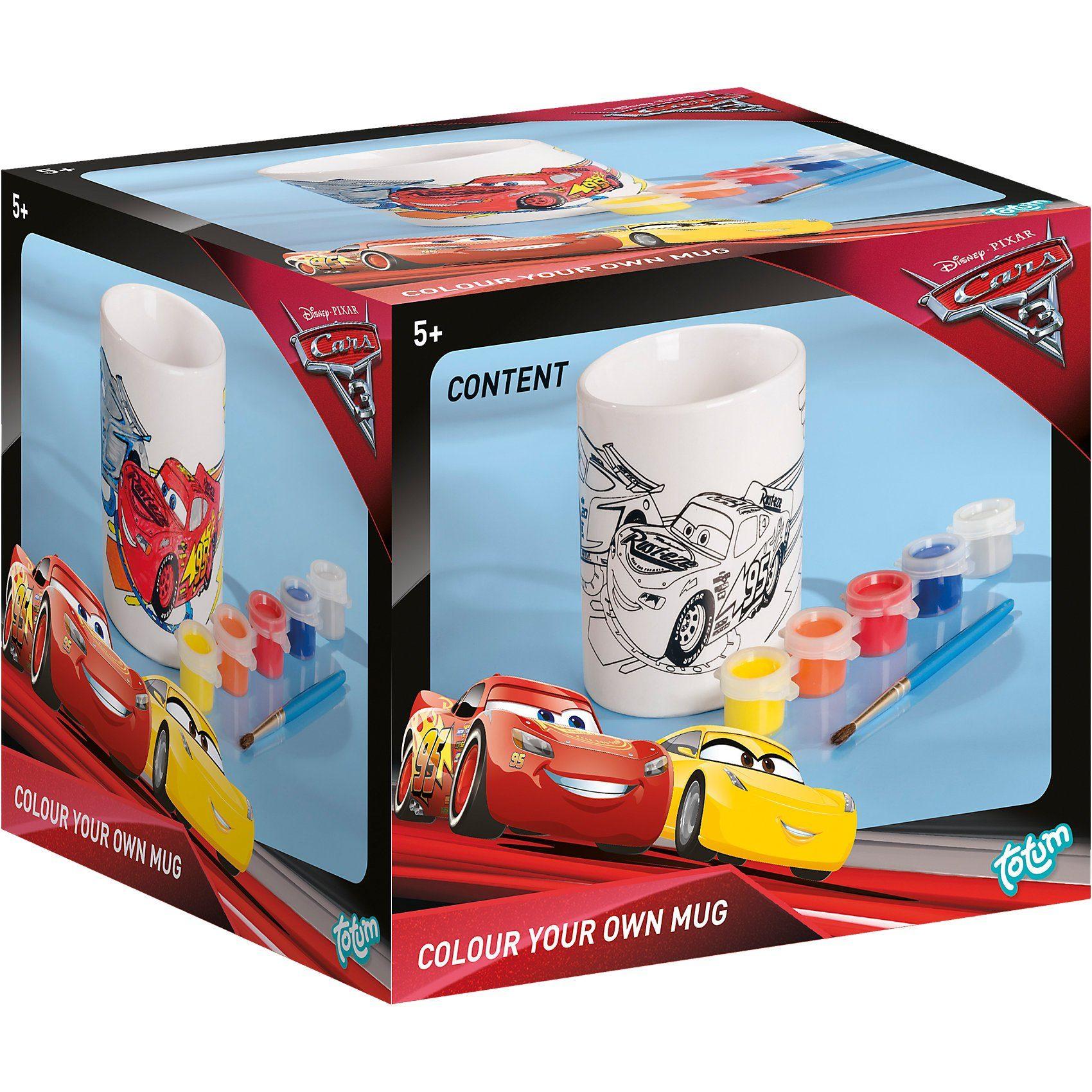 totum Cars 3 - Kreativset Tasse bemalen