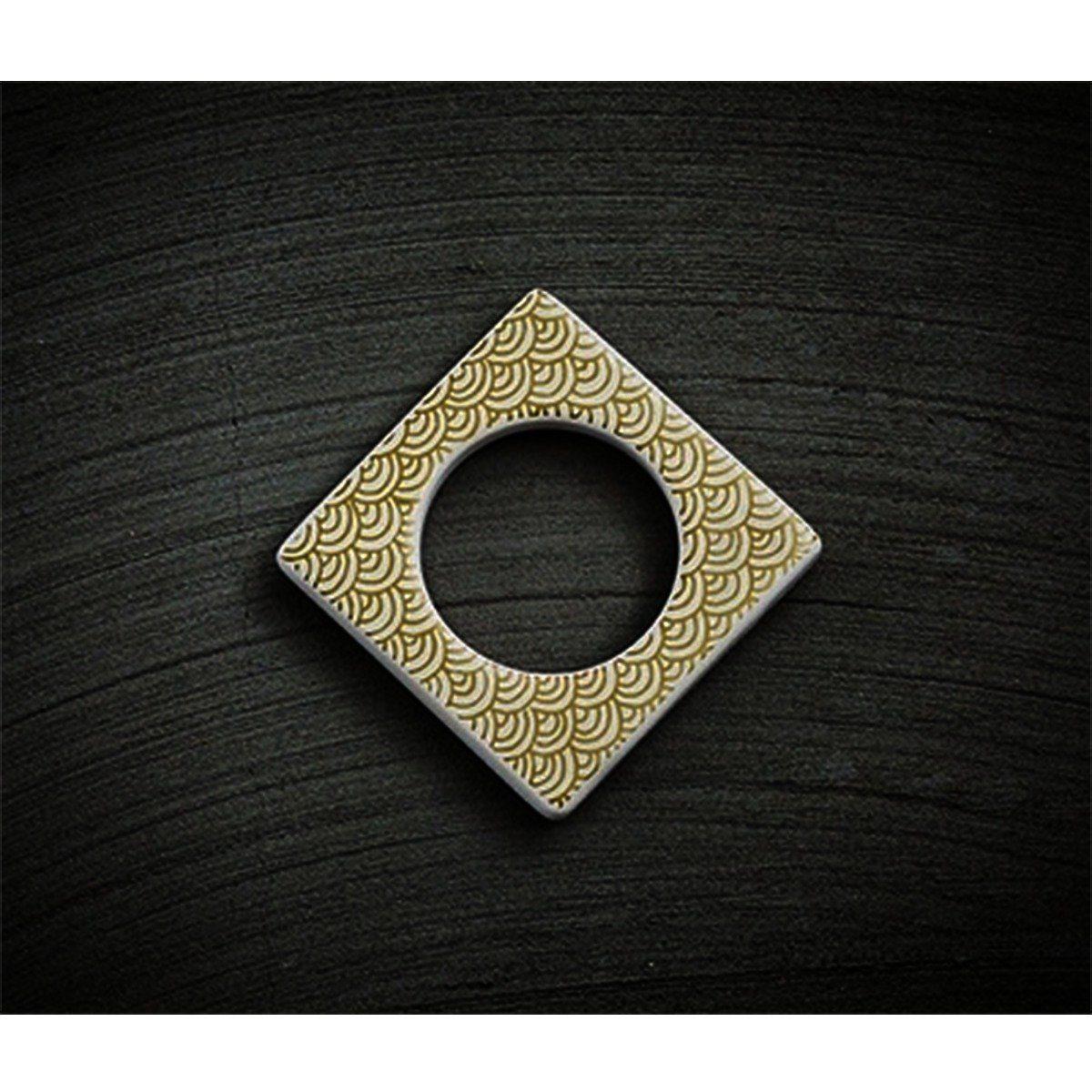 CULTDESIGN Cult Design Manschette für Teelichthalter gold weiß