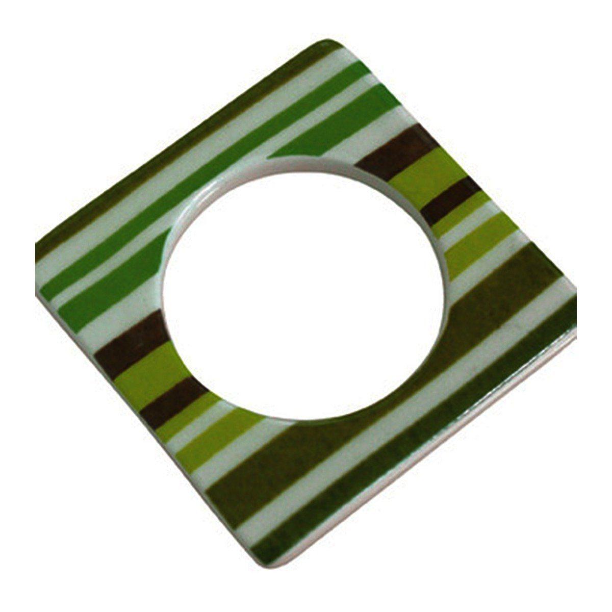 CULTDESIGN Cult Design Manschette für Teelichthalter grün gestreift