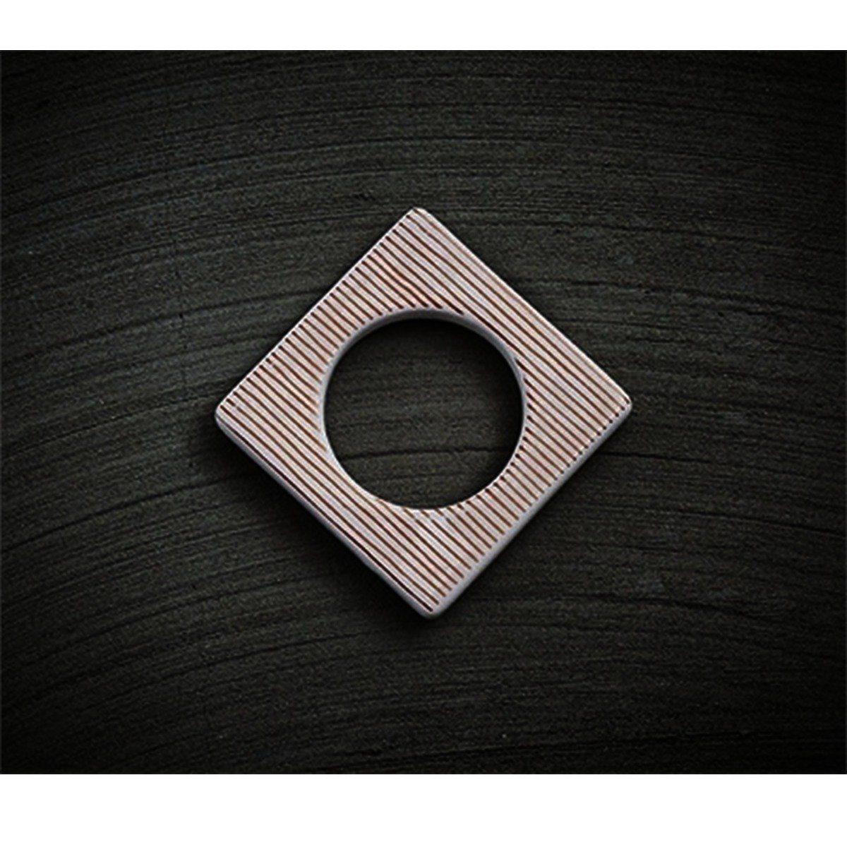 CULTDESIGN Cult Design Manschette für Teelichthalter kupfer-weiß-gestreift