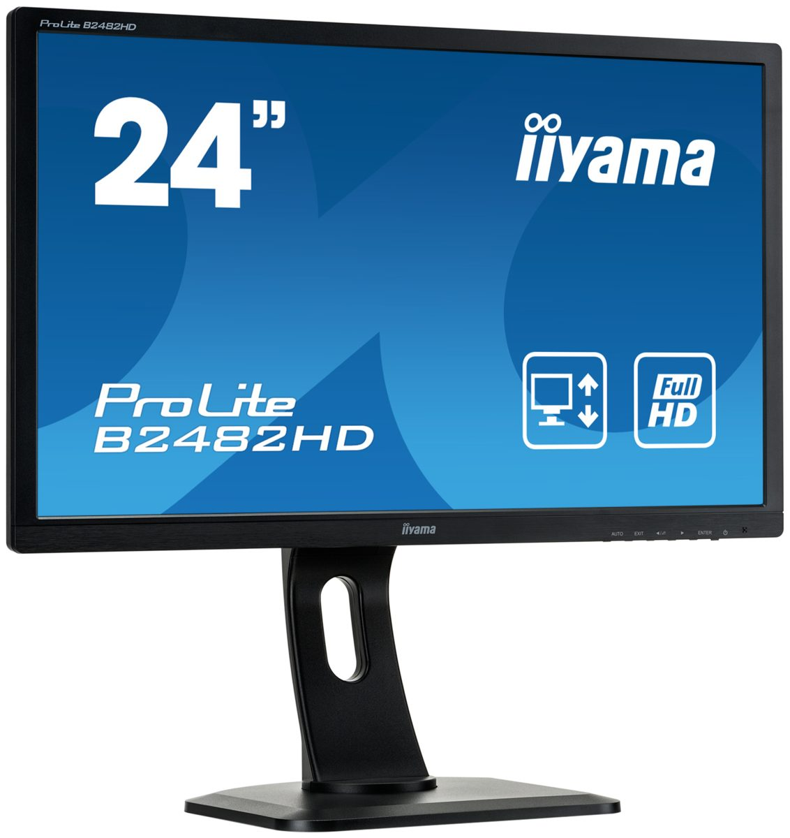 "Iiyama PC-Monitor »B2482HD-B1 61cm (24""), VGA, DVI, Monitor«"