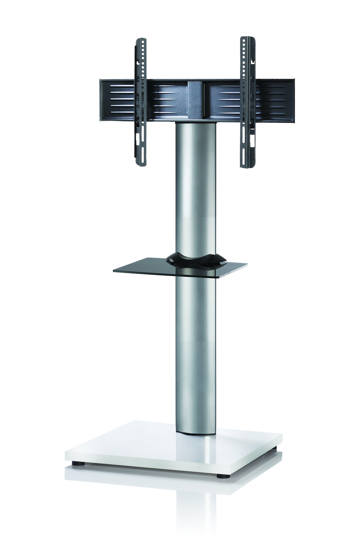 VCM TV-Standfuß ´´Onu Mini Weißlack´´ | Wohnzimmer > TV-HiFi-Möbel > Ständer & Standfüße | Silber | Aluminium - Mdf - Lackiert | VCM