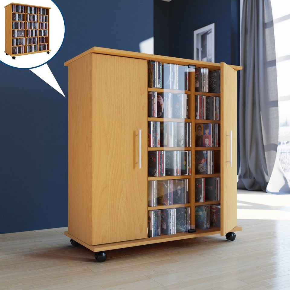 vcm cd dvd schrank luxor online kaufen otto. Black Bedroom Furniture Sets. Home Design Ideas
