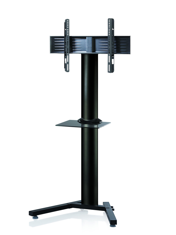 VCM TV-Standfuß ´´Stadino Schwarz Maxi´´ | Wohnzimmer > TV-HiFi-Möbel > Ständer & Standfüße | Schwarz - Silber | Aluminium - Sicherheitsglas - Stahl | VCM