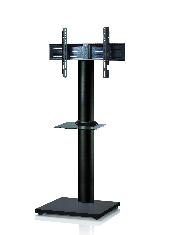 VCM TV - Standfuß ´´Onu Maxi Schwarz´´ | Wohnzimmer > TV-HiFi-Möbel > Ständer & Standfüße | Silber - Schwarz | Aluminium - Mdf - Lackiert | VCM