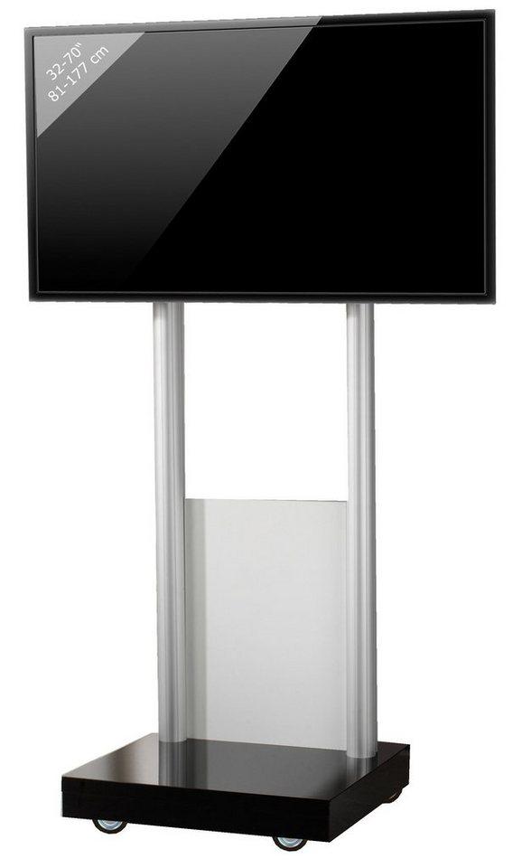 VCM TV-Standfuß ´´Monte Visolo 1´´ | Wohnzimmer > TV-HiFi-Möbel > Ständer & Standfüße | Schwarz | Melamin - Aluminium - Holzwerkstoff | VCM