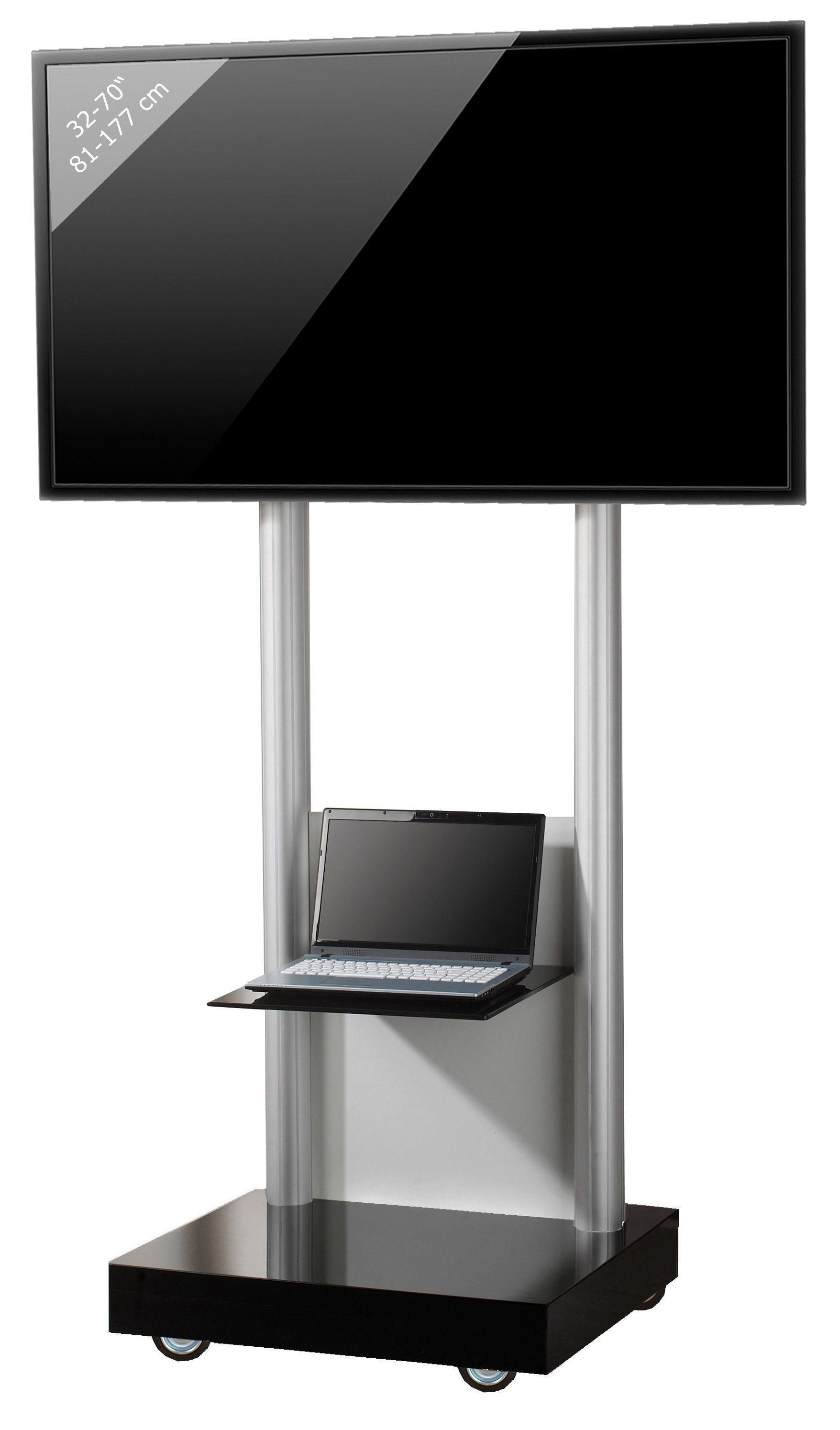 VCM TV-Standfuß ´´Monte Visolo 2´´ | Wohnzimmer > TV-HiFi-Möbel > Ständer & Standfüße | Melamin - Aluminium - Sicherheitsglas - Holzwerkstoff | VCM