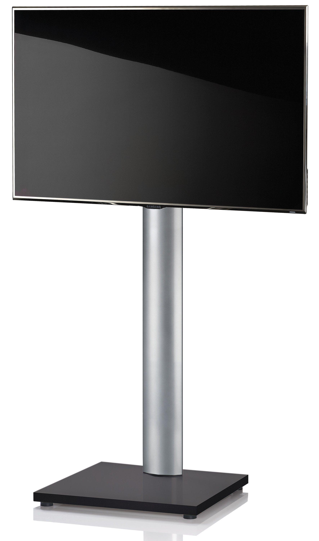 VCM TV-Standfuß ´´Onu Schwarzlack´´ | Wohnzimmer > TV-HiFi-Möbel > Ständer & Standfüße | Silber | Aluminium - Mdf - Lackiert | VCM