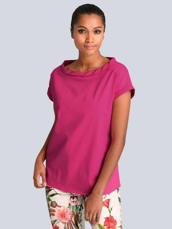 alba moda -  Bluse mit kleinem Stehkragen