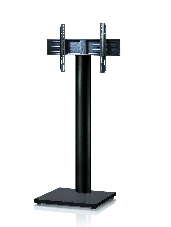 VCM TV-Standfuß ´´Onu Maxi Schwarz Schwarzlack´´ | Wohnzimmer > TV-HiFi-Möbel > Ständer & Standfüße | Schwarz - Silber | Aluminium - Mdf - Lackiert | VCM