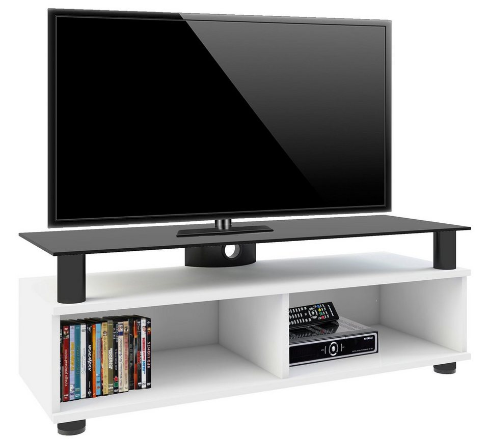 vcm tv lowboard clunis tv m bel mit s ulen aus hochwertigem alumium online kaufen otto. Black Bedroom Furniture Sets. Home Design Ideas