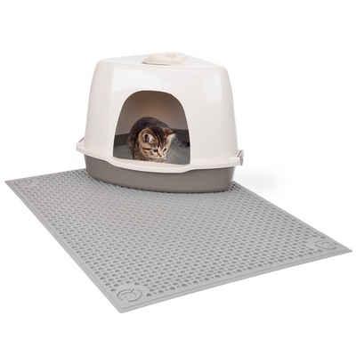 Canadian Cat Company Katzentoilette »All in one - taupe«, Katzentoilettenvorleger - sauberlauf Zone - Vorleger für die Katzentoilette